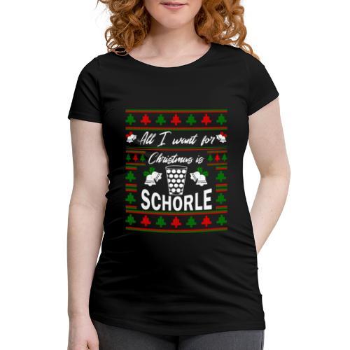 Ugly Christmas Schorle Pfälzer Weinschorle - Frauen Schwangerschafts-T-Shirt