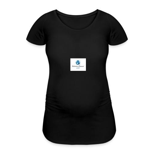 logo youtube - Maglietta gravidanza da donna