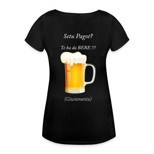 Setu pagot te ha da bere giuramente - Frauen Schwangerschafts-T-Shirt