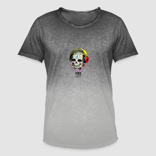 smiling_skull - Men's T-Shirt with colour gradients