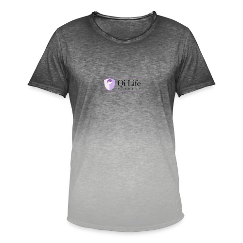 Qi Life Academy Promo Gear - Men's T-Shirt with colour gradients