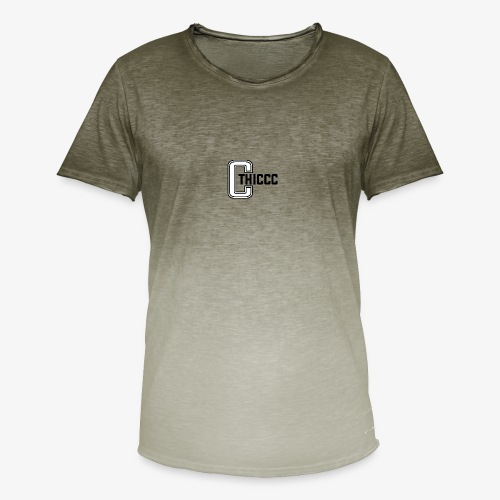 thiccc logo WHITE and BLACK - Men's T-Shirt with colour gradients