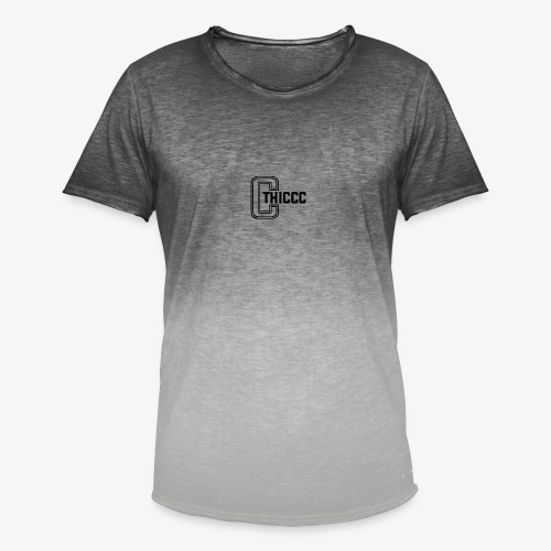 thiccc logo White - Men's T-Shirt with colour gradients