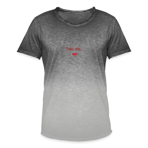 Take The Red Pill - Men's T-Shirt with colour gradients
