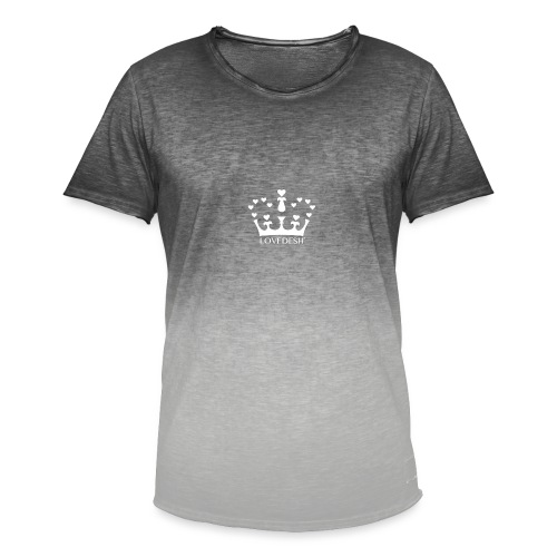 White Lovedesh Crown, Ethical Luxury - With Heart - Men's T-Shirt with colour gradients