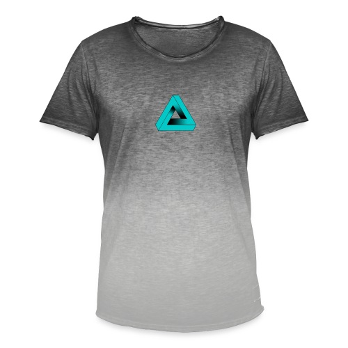 Impossible Triangle - Men's T-Shirt with colour gradients