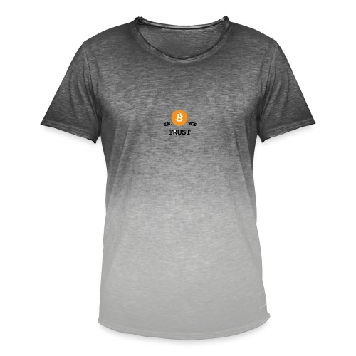 in b we trust cirkel - Mannen T-shirt met kleurverloop