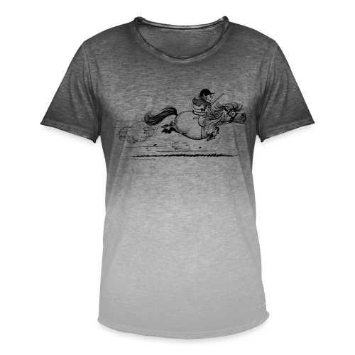 PonySprint Thelwell Cartoon - Men's T-Shirt with colour gradients