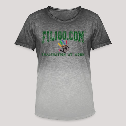 FIL180 HOODY GREEN - Men's T-Shirt with colour gradients