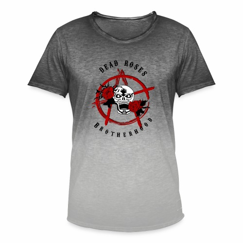 Dead Roses Anarchy Skull Black - Men's T-Shirt with colour gradients