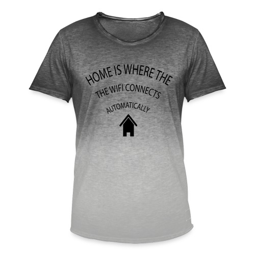 Home is where the Wifi connects automatically - Men's T-Shirt with colour gradients
