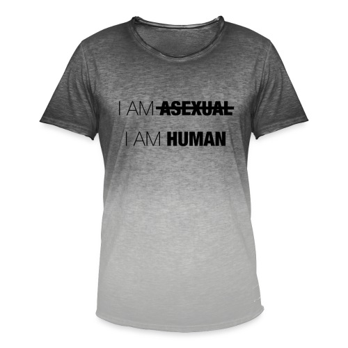 I AM ASEXUAL - I AM HUMAN - Men's T-Shirt with colour gradients