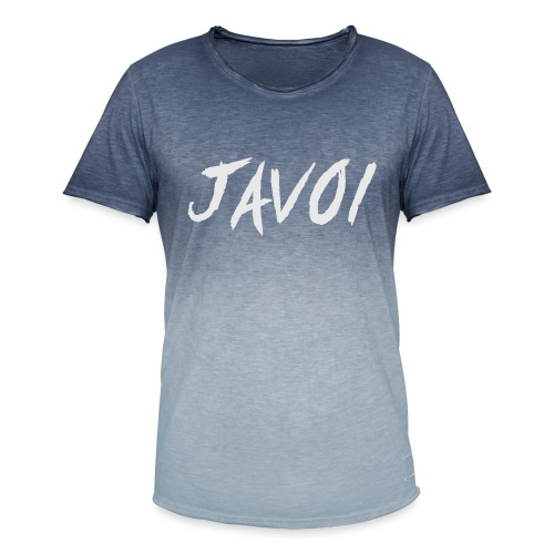 JAVOI graffiti text - Men's T-Shirt with colour gradients