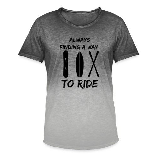 Always Finding a Way to Ride - Men's T-Shirt with colour gradients
