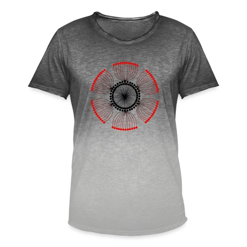 Red Poppy Seeds Mandala - Men's T-Shirt with colour gradients