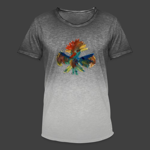 Mayas bird - Men's T-Shirt with colour gradients