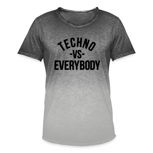 Techno vs everybody - Men's T-Shirt with colour gradients
