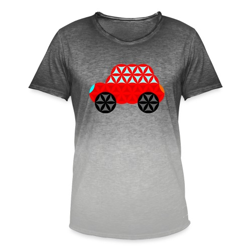 The Car Of Life - M01, Sacred Shapes, Red/R01. - Men's T-Shirt with colour gradients