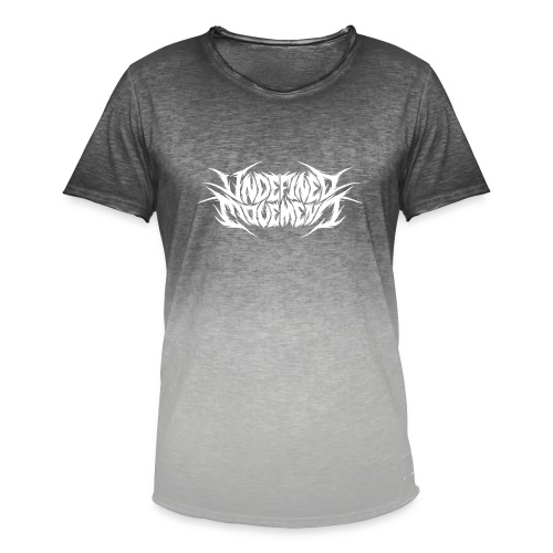 Undefined Movement White - Mannen T-shirt met kleurverloop