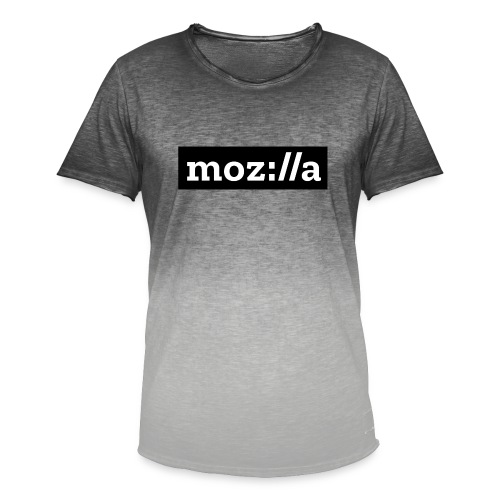 mozilla logo - Men's T-Shirt with colour gradients