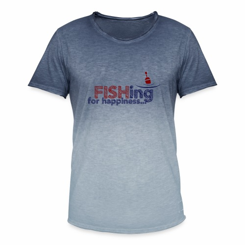 Fishing For Happiness - Men's T-Shirt with colour gradients