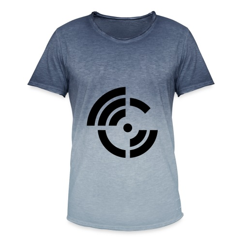 electroradio.fm logo - Men's T-Shirt with colour gradients