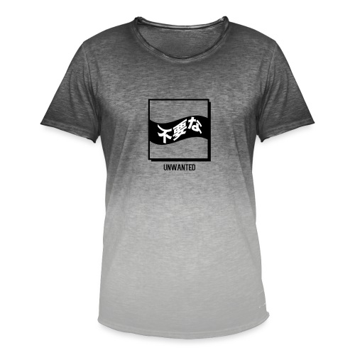 UNWANTED Japanese Tee White - Men's T-Shirt with colour gradients
