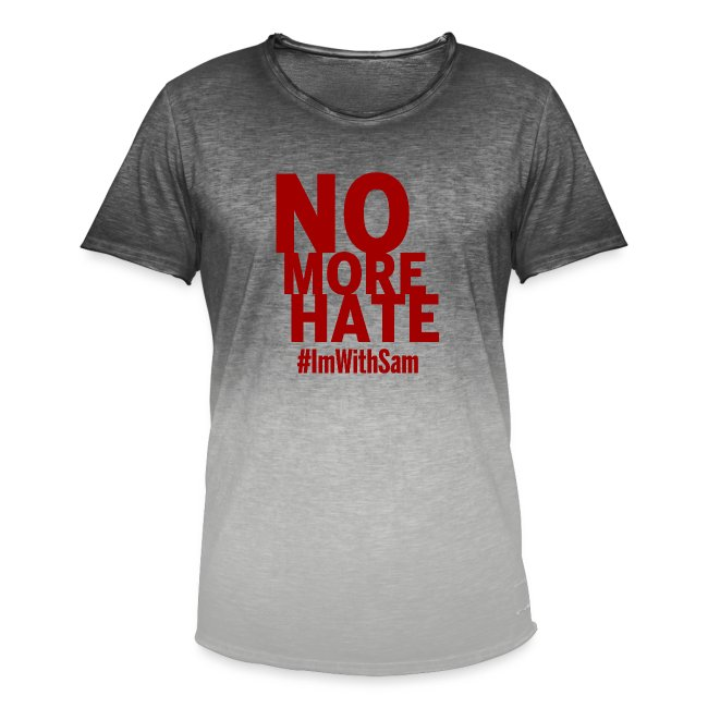 No More Hate- Red Text