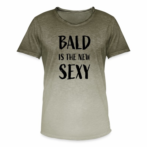 Bald is the new Sexy - Mannen T-shirt met kleurverloop