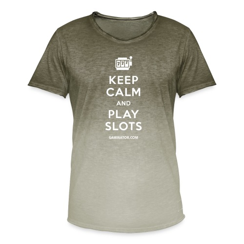 Keep Calm and Play Slots - Men's T-Shirt with colour gradients