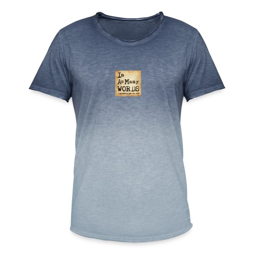 I AM Words LOGO_Brown - Men's T-Shirt with colour gradients