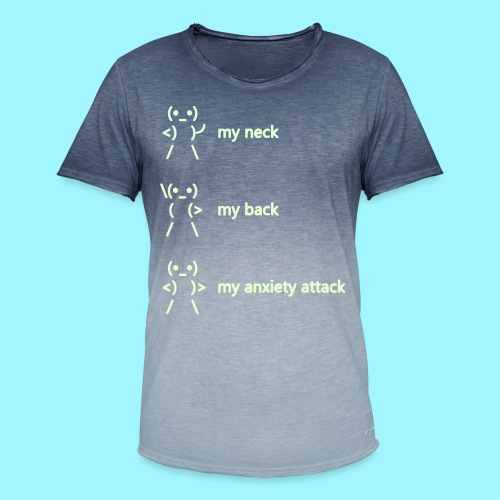 neck back anxiety attack - Men's T-Shirt with colour gradients