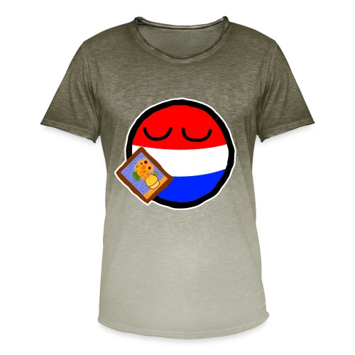 Netherlandsball - Men's T-Shirt with colour gradients