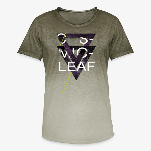 Cosmicleaf Triangles - Men's T-Shirt with colour gradients