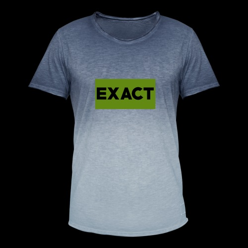 Exact Classic Green Logo - Men's T-Shirt with colour gradients