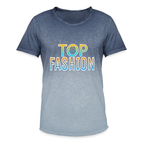 Top Fashion - Camiseta degradada hombre