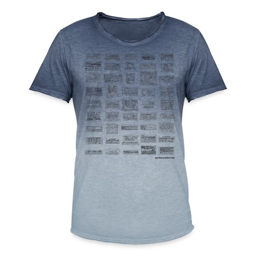 Synth Evolution T-shirt - White - Men's T-Shirt with colour gradients