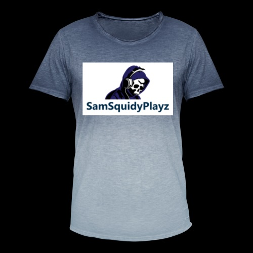 SamSquidyplayz skeleton - Men's T-Shirt with colour gradients