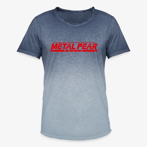Metal Pear Solid: Tactical Greengrocer Action - Men's T-Shirt with colour gradients