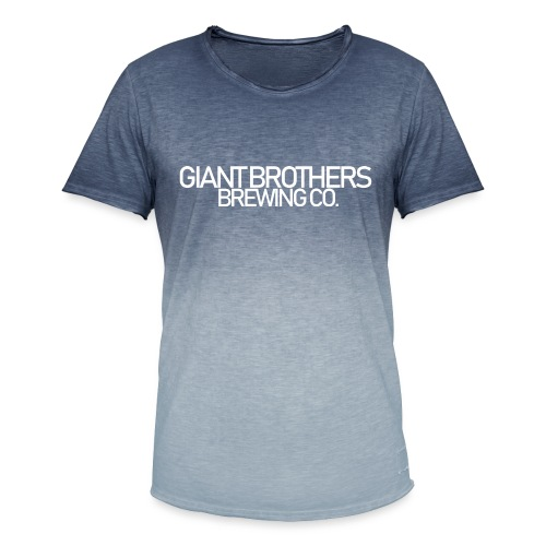 Giant Brothers Brewing co white - T-shirt med färgtoning herr