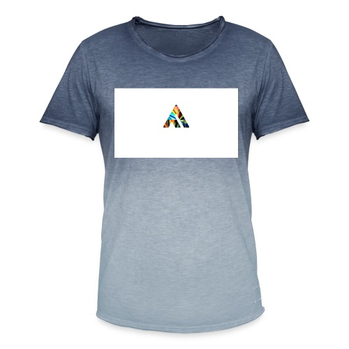 A - Herre T-shirt i colour-block-optik