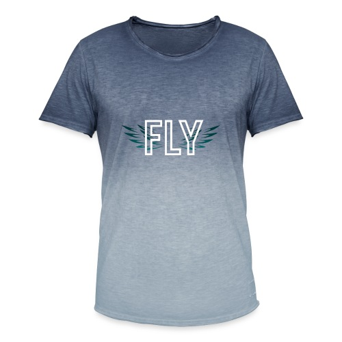 Wings Fly Design - Men's T-Shirt with colour gradients
