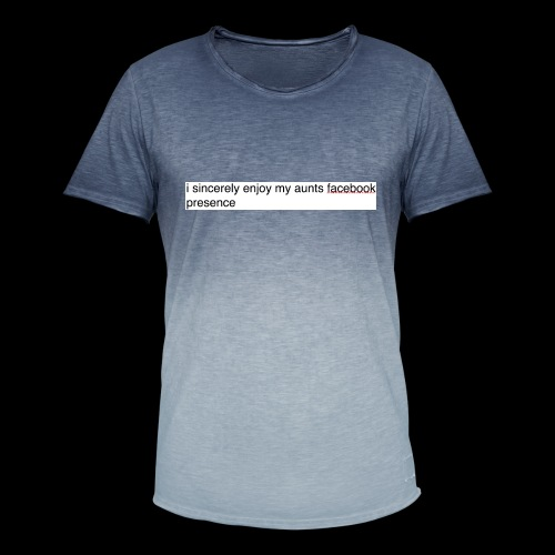 aunty irene is fine on Facebook generally - Men's T-Shirt with colour gradients