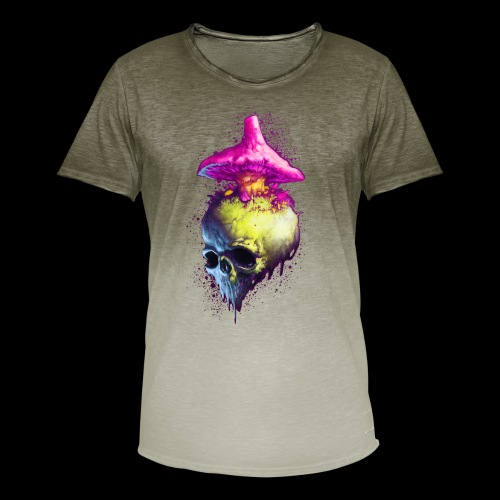 Shroomskull - Men's T-Shirt with colour gradients