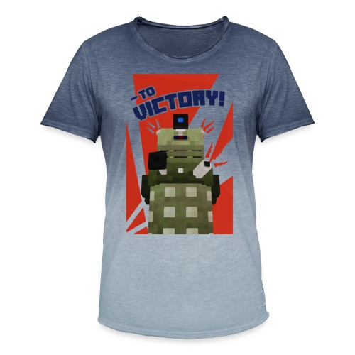 Dalek Mod - To Victory - Men's T-Shirt with colour gradients