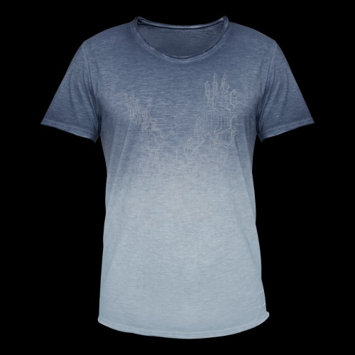 Circuit eagle White - Herre T-shirt i colour-block-optik