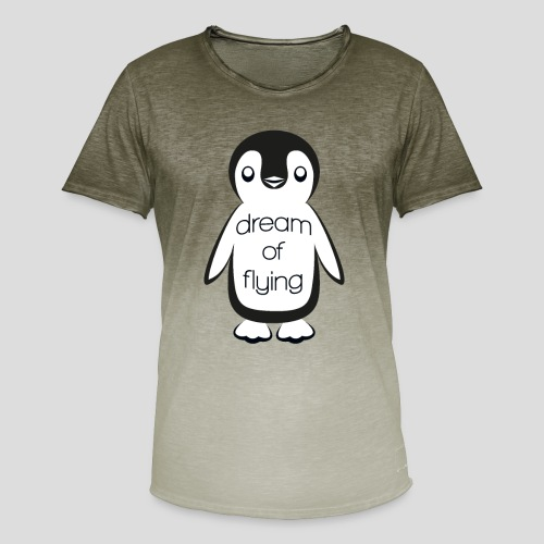 Dream of Flying Pinguin - Men's T-Shirt with colour gradients