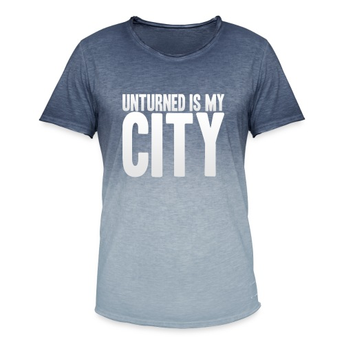 Unturned is my city - Men's T-Shirt with colour gradients