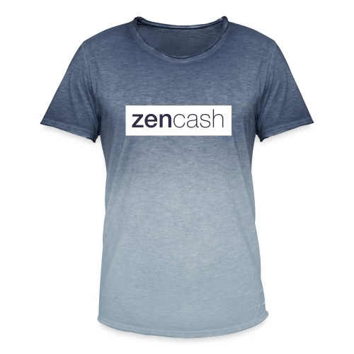 ZenCash CMYK_Horiz - Full - Men's T-Shirt with colour gradients