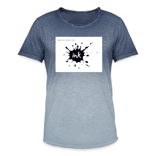 Ink Logo and website - Men's T-Shirt with colour gradients